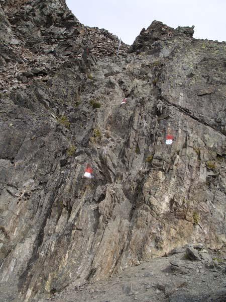 Foto: vince 51 / Wander Tour / Über den Hochzeiger auf den Wildgrat (2971m) / Kleine Klettereinlage kurz vor dem Gipfel / 08.05.2008 23:54:56