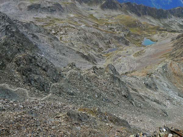 Foto: vince 51 / Wander Tour / Über den Hochzeiger auf den Wildgrat (2971m) / Rückblick auf den Aufstiegsweg mit Grosssee / 08.05.2008 23:39:06