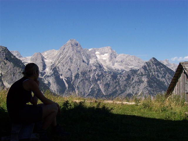 Foto: Karlheinz Kutil / Wander Tour / Dolomitensteig im Hinteren Stodertal / Blick von Lögerhütte auf Totes Gebirge / 20.08.2008 21:39:35