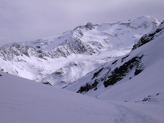 Foto: Andreas Koller / Wander Tour / Glockturm (3353m) / Blick vom Glockturmanstieg auf die Weißseespitze (3536 m) / 22.03.2008 15:24:14