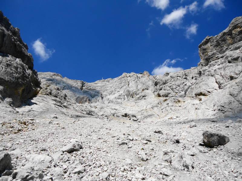 Foto: Günter Siegl / Wander Tour / Hunerkogel - Großer Koppenkarstein - Edelgrieß (2863m) / Edelgrieß nach der Steilstufe / 24.08.2015 10:01:59