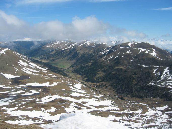Foto: Gernot Huber / Wander Tour / Rundwanderung über den Königstuhl (2336m) / Blick ins Raosanintal / 05.03.2010 20:03:41