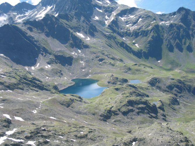 Foto: Gernot Huber / Wander Tour / Hoher- und Niederer Prijakt (3064m) / Blick auf den Alkuser See / 28.01.2011 14:32:18