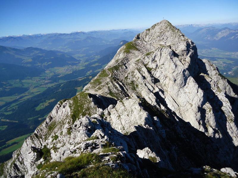 Foto: Günter Siegl / Wander Tour / Von Bärnstatt auf Scheffauer und Sonneck / Rückblick Scheffauer / 11.09.2016 17:47:07