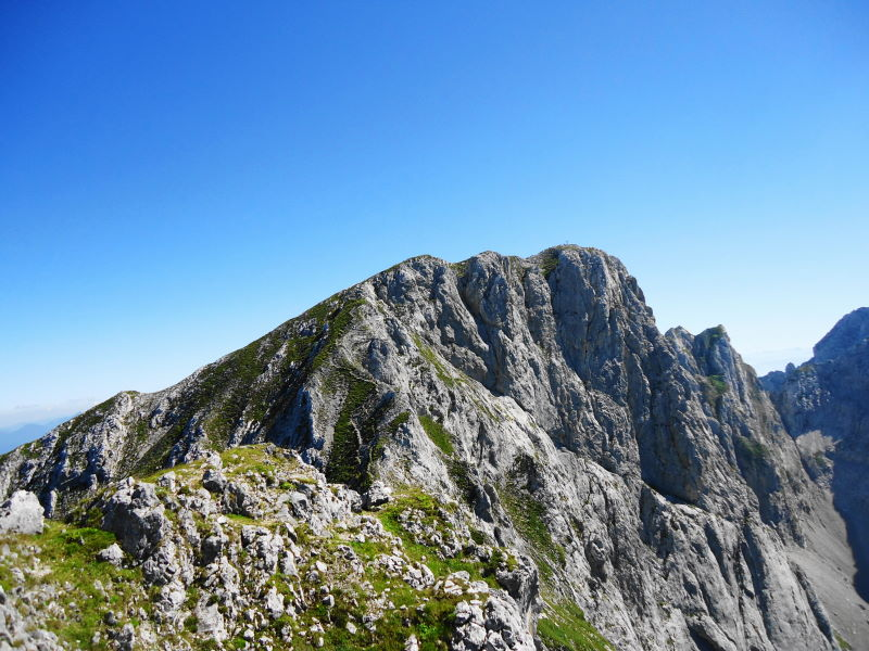 Foto: Günter Siegl / Wander Tour / Von Bärnstatt auf Scheffauer und Sonneck / Gipfel Kopfkraxn - Blick zum Sonneck / 11.09.2016 17:35:27