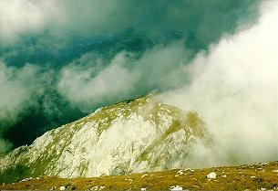 Foto: Wolfgang Dröthandl / Wander Tour / Von Wildalpen auf den Großen Griesstein / Blick von der Gipfelwiese auf den Kleinen Griesstein (Anstiegsweg) / 28.03.2011 13:54:36
