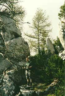 Foto: Wolfgang Dröthandl / Wander Tour / Von Wildalpen auf den Großen Griesstein / Felspassage vor dem Ausstieg zum Kl. Griesstein / 28.03.2011 14:07:17