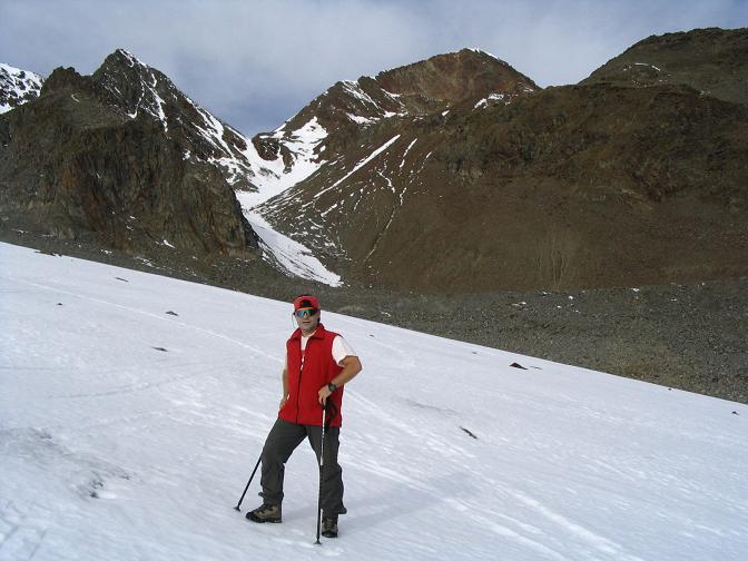 Foto: Andreas Koller / Wander Tour / Hinterer Daunkopf - ein stilles Ziel hoch über dem Stubaier Gletscherschigebiet (3225 m) / 05.06.2008 22:09:25