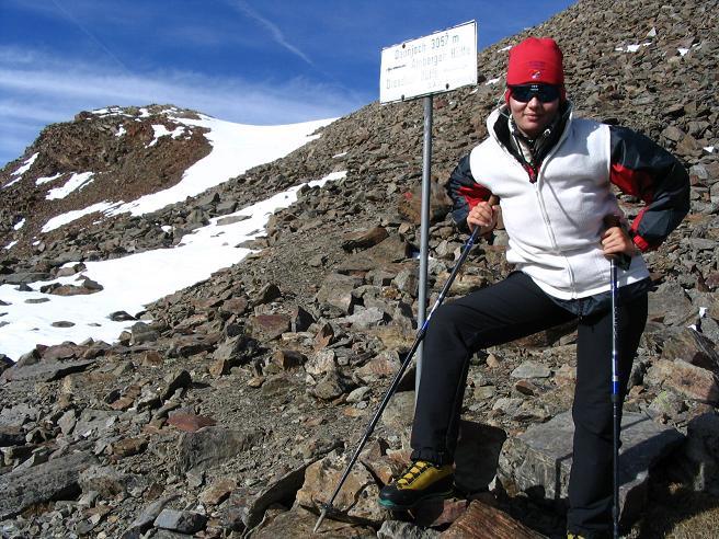 Foto: Andreas Koller / Wander Tour / Hinterer Daunkopf - ein stilles Ziel hoch über dem Stubaier Gletscherschigebiet (3225 m) / 05.06.2008 22:07:12