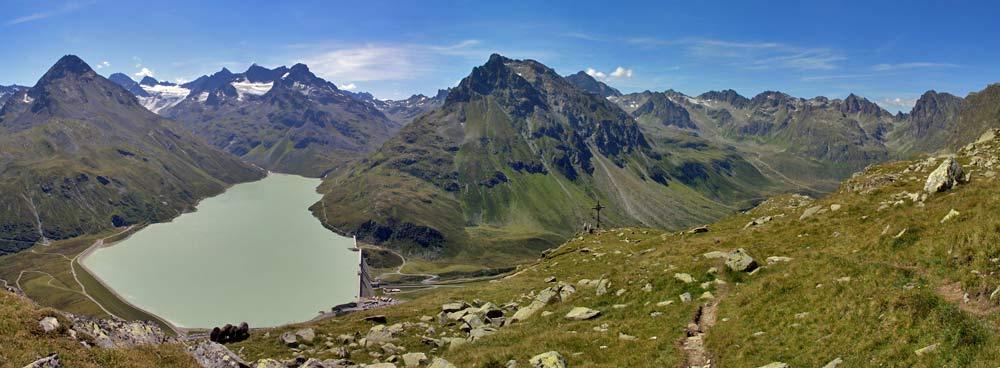 Foto: tomy37 / Wander Tour / Bielerspitze - Aussichtskanzel über dem Silvretta Stausee (2545m) / 25.08.2009 23:41:20