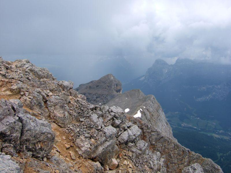 Foto: Ingo Gräber / Wander Tour / Über den Heiligkreuzkofel auf die Zehnerspitze / Blick zum Heiligkreuzkofel / 15.02.2013 17:07:53