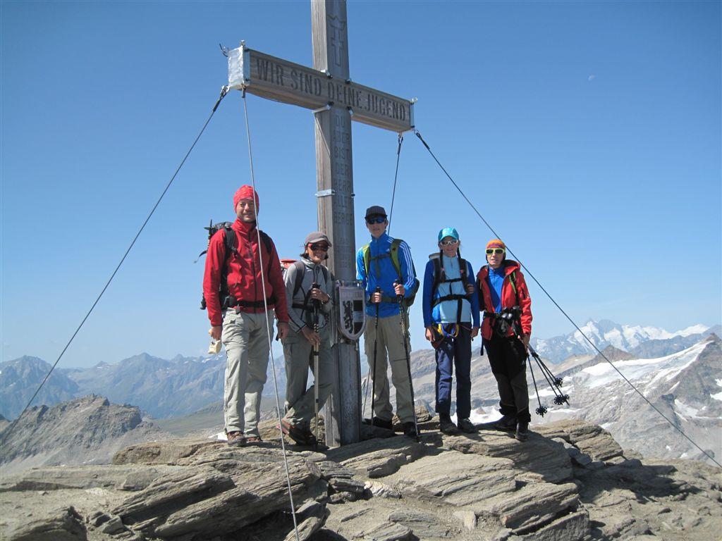 Foto: Heidi Schützinger / Wander Tour / Vom Naßfeld auf das Schareck / Am Gipfel des Schareck<br>Gratuliere Alexandra und Rupert zu dieser aussergewöhlichen Leistung / 23.08.2011 20:07:00