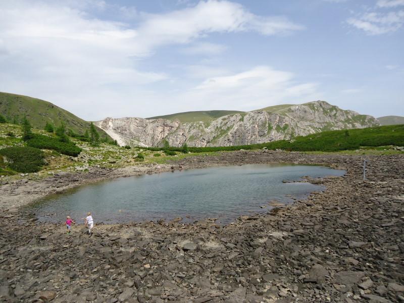 Foto: Günter Siegl / Wander Tour / Rosennock - höchste Erhebung der Kärntner Nockberge (2440m) / Nassbodensee / 10.08.2013 19:58:26
