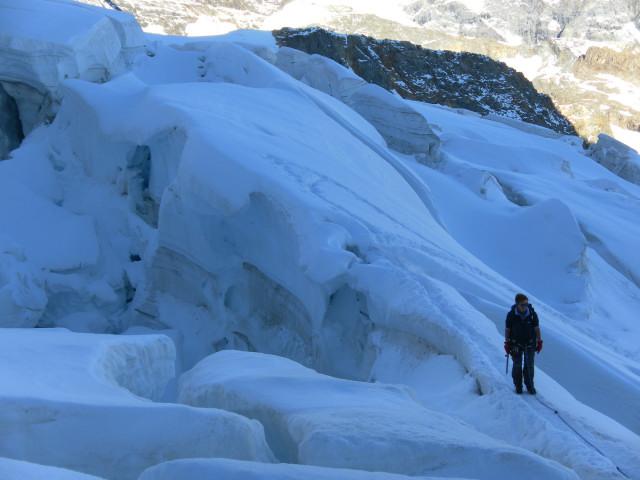 Foto: Wolfgang Lauschensky / Wander Tour / Piz Palü - Eisriese in der Berninagruppe (3905 m) / gewaltige Bruchzone / 04.11.2013 20:20:35