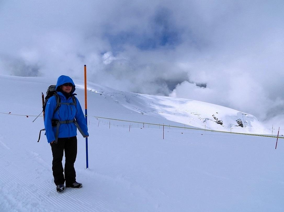 Foto: Andreas Koller / Wander Tour / Vom Kleinen Matterhorn auf das Breithorn Westgipfel (4164 m) / 23.09.2015 01:51:33
