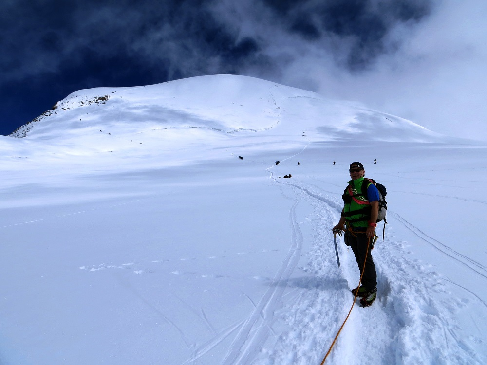 Foto: Andreas Koller / Wander Tour / Vom Kleinen Matterhorn auf das Breithorn Westgipfel (4164 m) / 23.09.2015 01:50:26