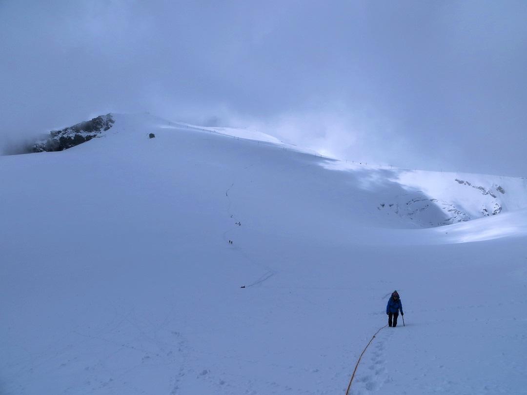 Foto: Andreas Koller / Wander Tour / Vom Kleinen Matterhorn auf das Breithorn Westgipfel (4164 m) / 23.09.2015 01:49:57