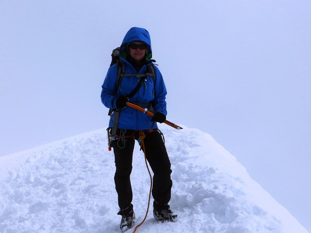 Foto: Andreas Koller / Wander Tour / Vom Kleinen Matterhorn auf das Breithorn Westgipfel (4164 m) / Am Gipfel des Breithorn / 23.09.2015 01:48:08
