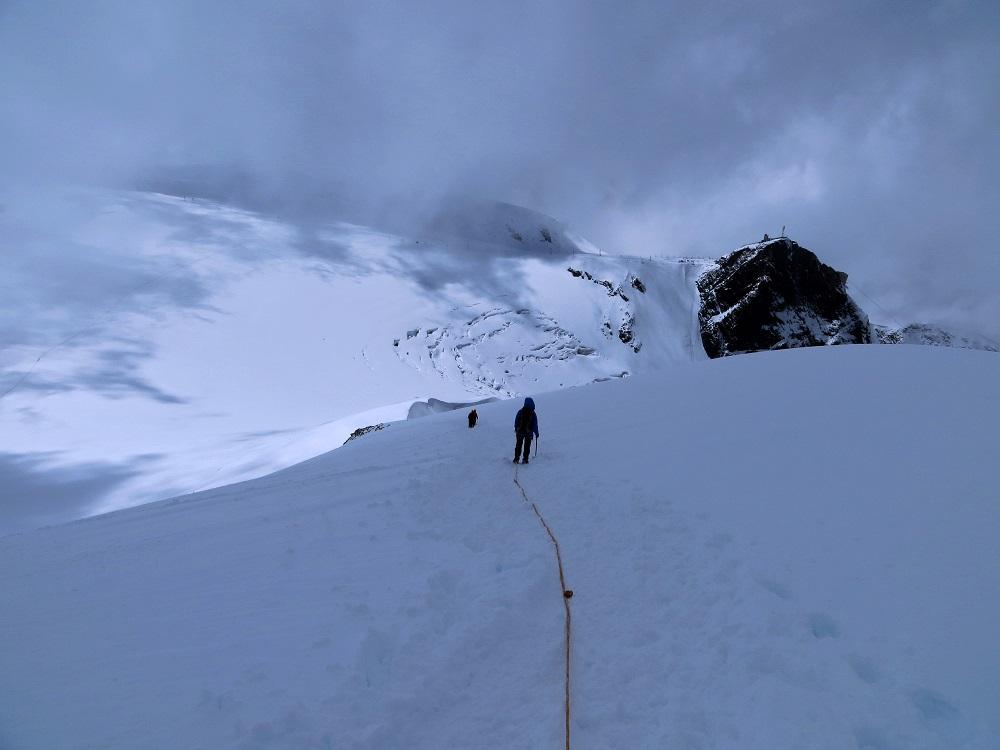 Foto: Andreas Koller / Wander Tour / Vom Kleinen Matterhorn auf das Breithorn Westgipfel (4164 m) / 23.09.2015 01:46:36