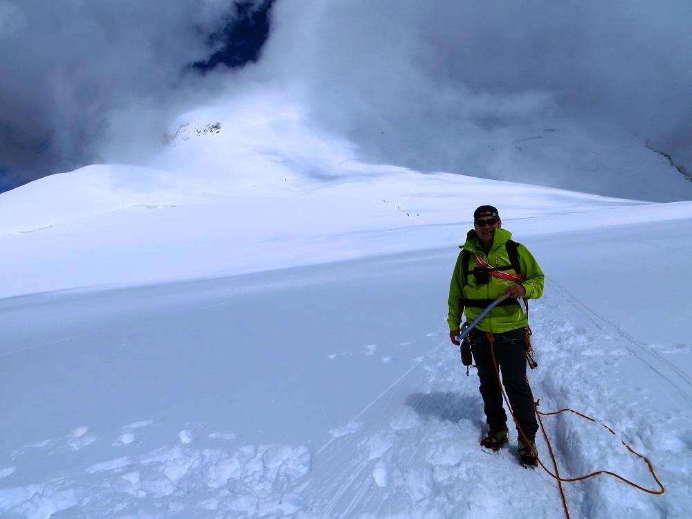 Foto: Andreas Koller / Wander Tour / Vom Kleinen Matterhorn auf das Breithorn Westgipfel (4164 m) / 23.09.2015 01:45:40