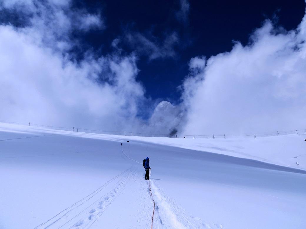 Foto: Andreas Koller / Wander Tour / Vom Kleinen Matterhorn auf das Breithorn Westgipfel (4164 m) / 23.09.2015 01:45:32