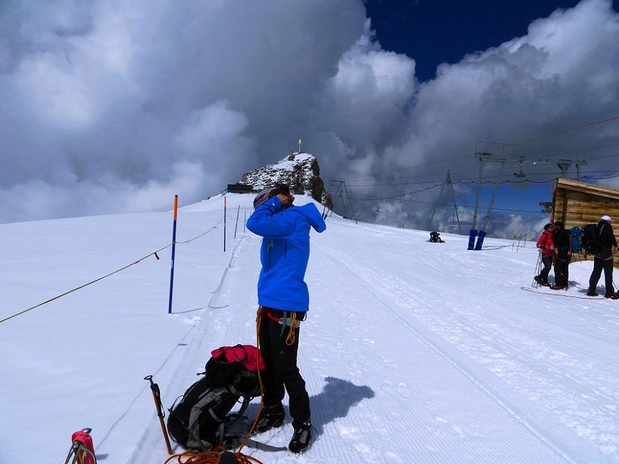 Foto: Andreas Koller / Wander Tour / Vom Kleinen Matterhorn auf das Breithorn Westgipfel (4164 m) / 23.09.2015 01:44:49