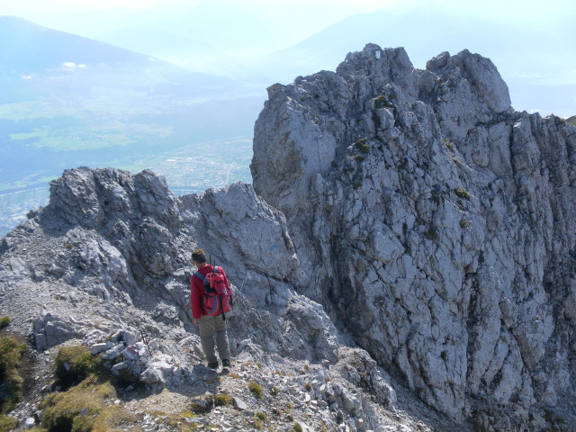 Foto: Wolfgang Lauschensky / Wander Tour / Lattenspitze - Pfeiser Spitze / Gipfelgrat im Abstieg / 01.10.2013 15:12:04
