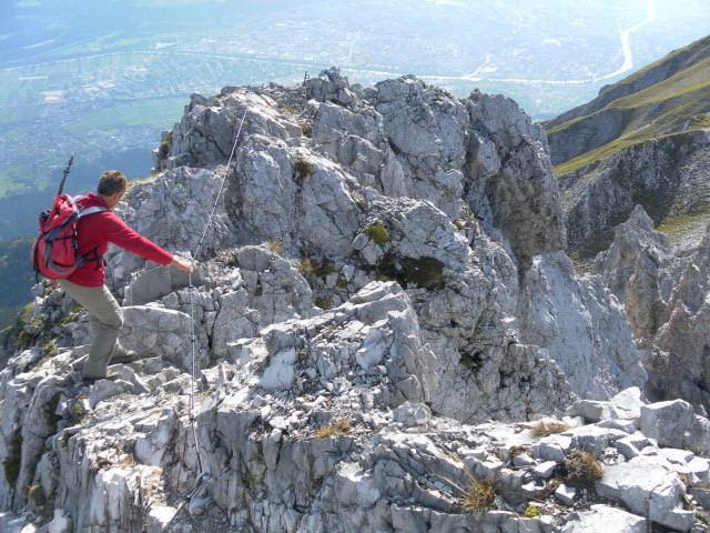 Foto: Wolfgang Lauschensky / Wander Tour / Lattenspitze - Pfeiser Spitze / Pfeisersüdgrat über Innsbruck / 01.10.2013 15:11:46