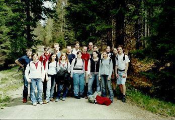 Foto: Wolfgang Dröthandl / Wander Tour / Plöckenstein - Auf Adalbert Stifters Spuren / Abgang von Holzschlag zur Staatsgrenze, in der Nähe der Jugendherberge / 28.03.2011 13:47:45