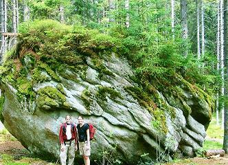 Foto: Wolfgang Dröthandl / Wander Tour / Plöckenstein - Auf Adalbert Stifters Spuren / Urige Waldlandschaft auf tschechischer Seite... / 28.03.2011 13:45:28
