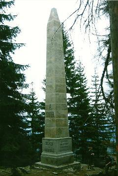 Foto: Wolfgang Dröthandl / Wander Tour / Plöckenstein - Auf Adalbert Stifters Spuren / Denkmal für Adalbert Stifter / 28.03.2011 13:41:15
