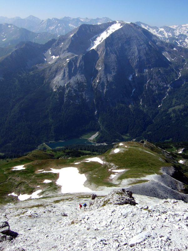 Foto: Ingo Gräber / Wander Tour / Aus dem Riedingtal im Lungau auf das Mosermandl (2680 m) / Der Schlierersee unter dem Weißeck / 05.10.2013 17:52:26