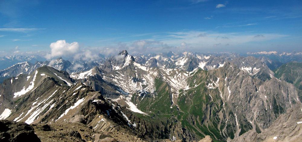 Foto: vince 51 / Wander Tour / Alpjoch - Pleiskopf - Muttekopf / Blick nach Süden / 14.07.2009 23:40:55