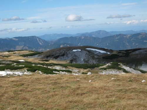 Foto: bestfriend / Wandertour / Große Rax-Runde über den Dreimarkstein und die Scheibwaldhöhe (1948m) / Blick Richtung Nordwesten auf der Scheibwaldhöhe  / 04.10.2007 19:06:12