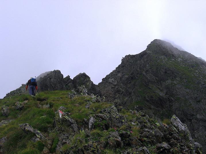 Foto: Andreas Koller / Wander Tour / Vom Prebersee auf das Roteck (2742 m) / Der Grat über dem Mühlbachtörl / 16.08.2010 18:42:30