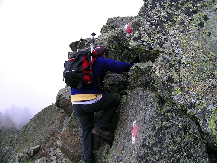 Foto: Andreas Koller / Wander Tour / Vom Prebersee auf das Roteck (2742 m) / Leichte Kletterstellen würzen den Aufstieg / 16.08.2010 18:42:06
