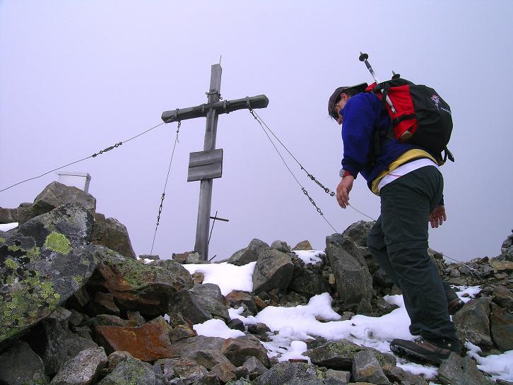 Foto: Andreas Koller / Wander Tour / Vom Prebersee auf das Roteck (2742 m) / Der Gipfel ist erreicht / 16.08.2010 18:40:10