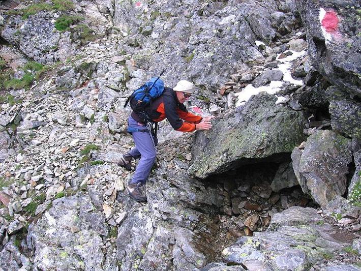 Foto: Andreas Koller / Wander Tour / Vom Prebersee auf das Roteck (2742 m) / Konzentration ist auch für den Abstieg gefragt / 16.08.2010 18:36:56