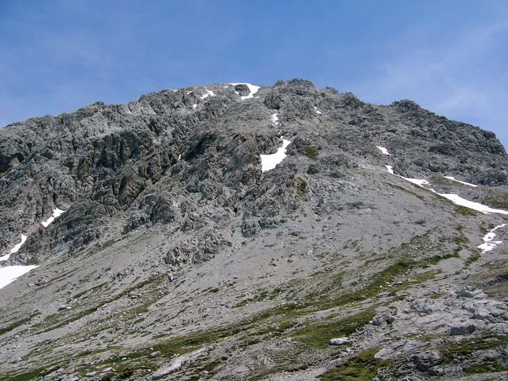 Foto: vince 51 / Wander Tour / Von Lech auf die Hochlichtspitze / Die Westflanke,über die der Anstieg erfolgt / 17.07.2009 23:33:41