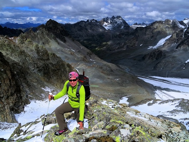 Foto: Andreas Koller / Wander Tour / Über die Wiesbadner Hütte auf den Ochsenkopf (3057 m) / Die letzten Meter / 08.11.2017 02:12:44