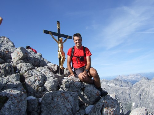 Foto: hofchri / Wander Tour / Watzmann - Überschreitung / Gipfelkreuz am Hocheck (2651 m) / 03.10.2009 18:07:32
