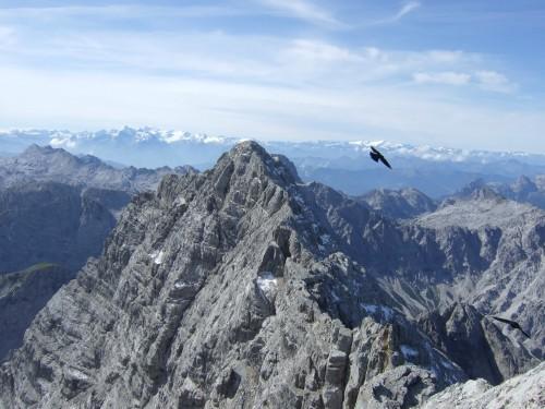 Foto: hofchri / Wander Tour / Watzmann - Überschreitung / Panorama mit Watzmann Südspitze / 03.10.2009 18:11:45
