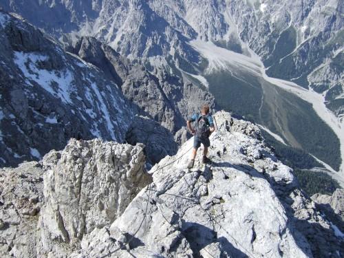 Foto: hofchri / Wander Tour / Watzmann - Überschreitung / immer schön ausgesetzt weiter / 03.10.2009 18:13:19