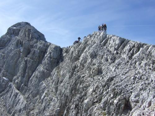 Foto: hofchri / Wander Tour / Watzmann - Überschreitung / äußerst ausgesetzte Gratwanderung / 03.10.2009 18:14:33