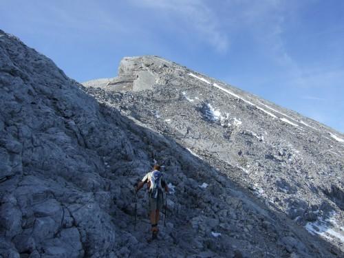 Foto: hofchri / Wander Tour / Watzmann - Überschreitung / schroffes Gehgelände / 03.10.2009 18:05:59