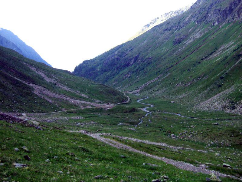 Foto: Ingo Gräber / Wander Tour / Aus dem Göriachtal auf den Hochgolling (2862m) / Im Aufstieg, Blick zurück in das Göriachtal / 05.10.2013 17:30:09