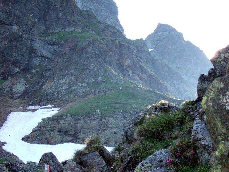 Foto: Ingo Gräber / Wander Tour / Aus dem Göriachtal auf den Hochgolling (2862m) / Aufstieg zur Gollingscharte / 05.10.2013 17:27:38