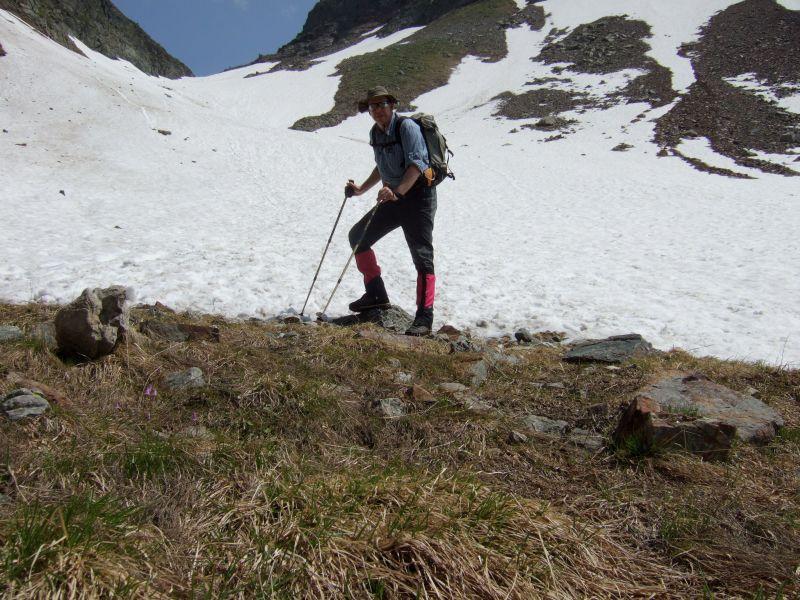 Foto: Ingo Gräber / Wander Tour / Aus dem Göriachtal auf den Hochgolling (2862m) / Am letzten Schneefeld / 05.10.2013 17:25:49