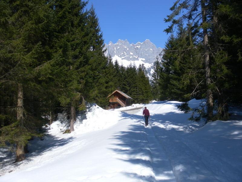 Foto: Wolfgang Lauschensky / Wander Tour / Hofalmwanderung - Filzmoos / Jagdhütte am Weg / 22.03.2016 18:45:38