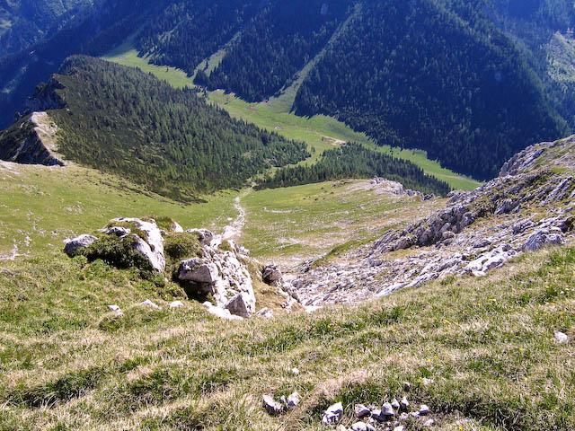 Foto: Jodeli / Wander Tour / Große Gesäusedurchquerung mit Überschreitung des Lugauer (2217m) / Lugauer Plan beim Abstieg / 14.06.2009 21:20:00